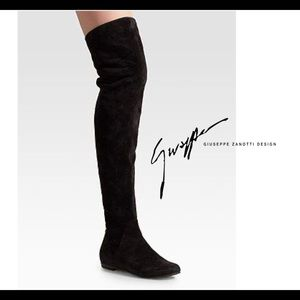 Giuseppe Zanotti Suede Pigalle 05 knee-high boots